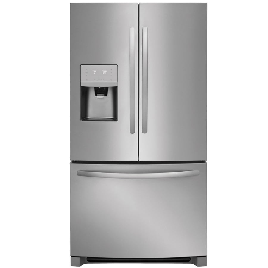 Attirant Frigidaire 26.8 Cu Ft French Door Refrigerator With Ice Maker (EasyCare  Stainless Steel)