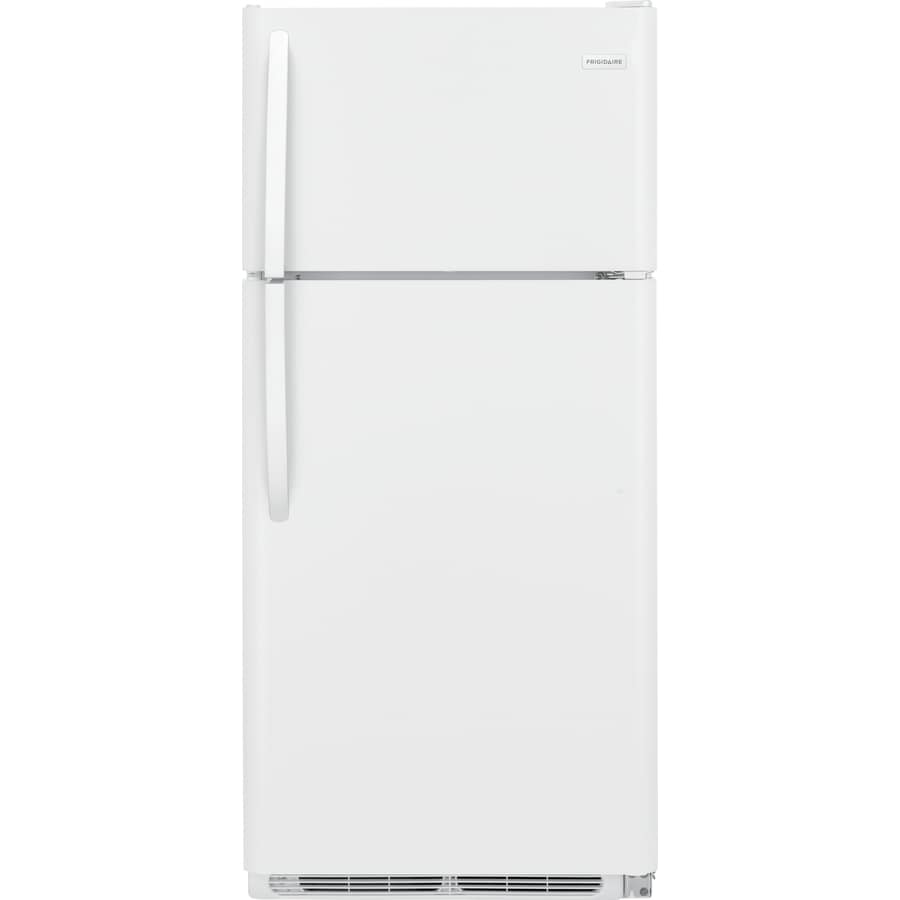 Shop Frigidaire 18 Cu Ft Top Freezer Refrigerator White