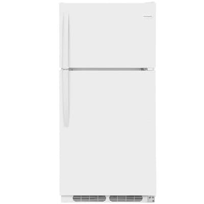 Frigidaire 14 5-cu ft Top-Freezer Refrigerator (White) at