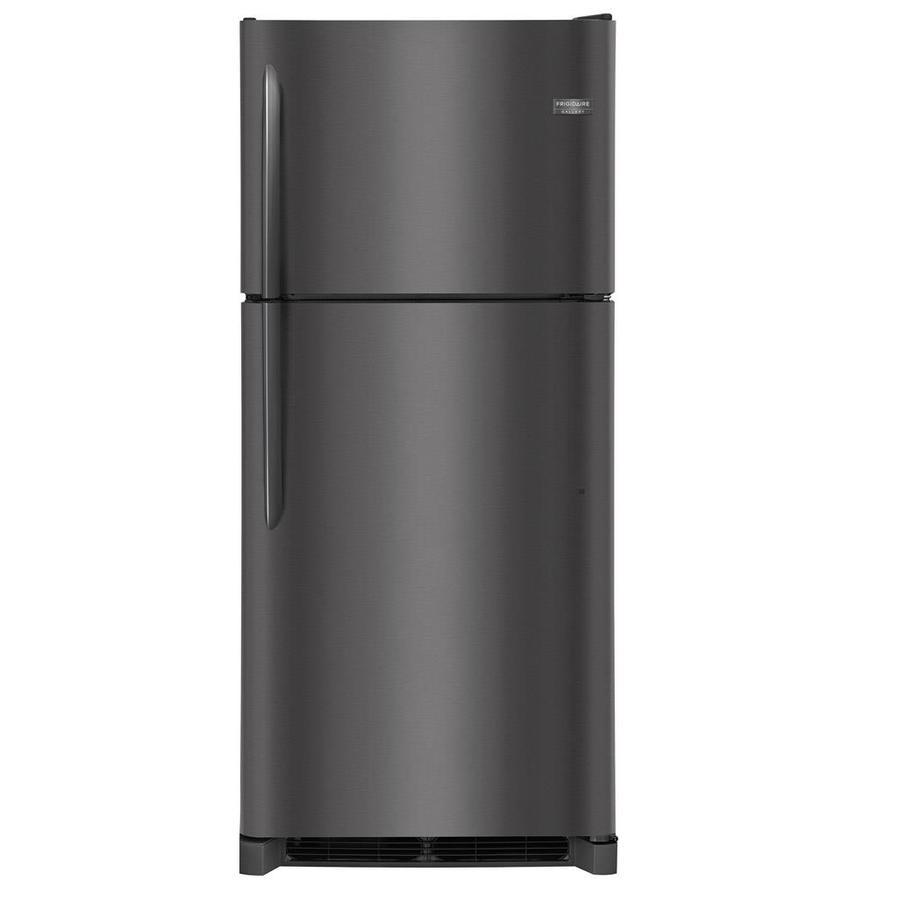 Frigidaire Gallery 20.4-cu ft Top-Freezer Refrigerator (Fingerprint-Resistant Black Stainless Steel)