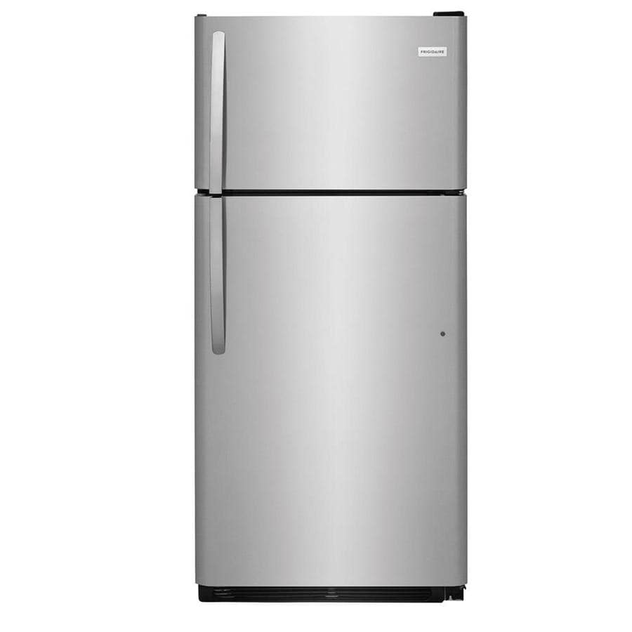 Frigidaire 18-cu ft Top-Freezer Refrigerator (EasyCare Stainless Steel)