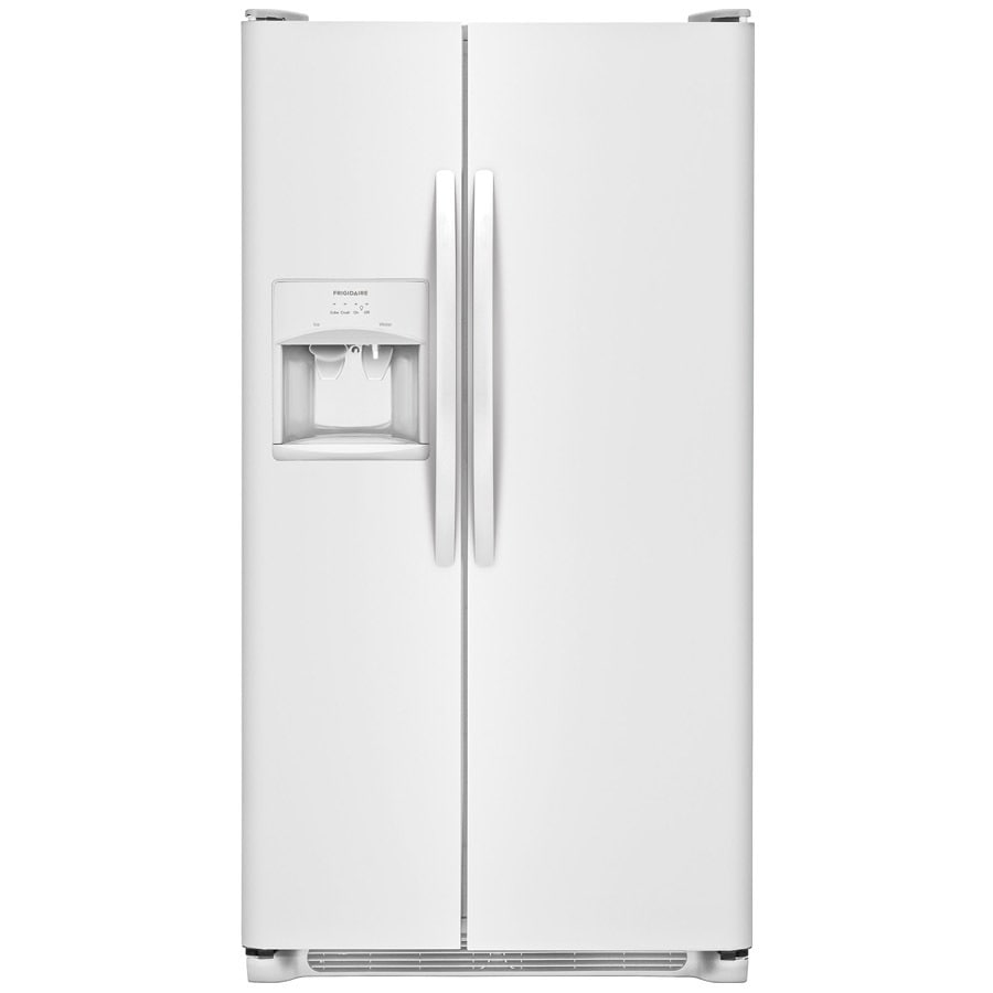 Frigidaire 22-cu ft Side-By-Side Refrigerator with Ice Maker (White)