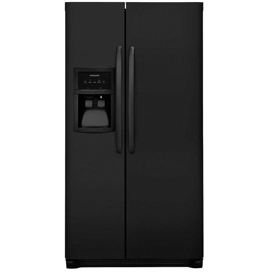 Frigidaire 22.1-cu ft Side-by-Side Refrigerator with Single Ice Maker (Black)