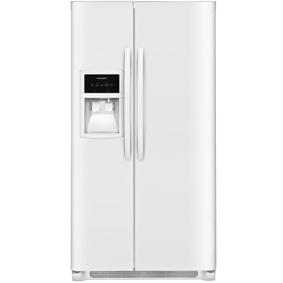 Frigidaire 22.1-cu ft Side-by-Side Refrigerator with Single Ice Maker (White)