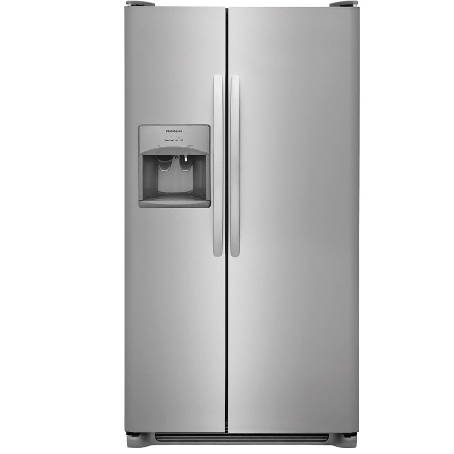 Side by side refrigerator 30 inch width - Frigidaire 25 5 Cu Ft Side By Side Refrigerator With Ice Maker Easycare