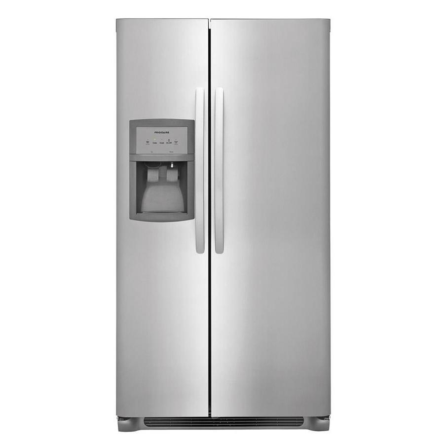 Frigidaire 25.5-cu ft Side-by-Side Refrigerator with Single Ice Maker (Stainless Steel)
