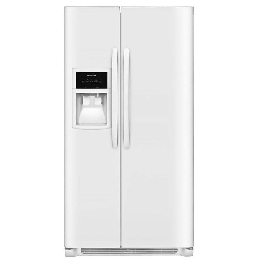 Frigidaire 25.5-cu ft Side-by-Side Refrigerator with Single Ice Maker (White)