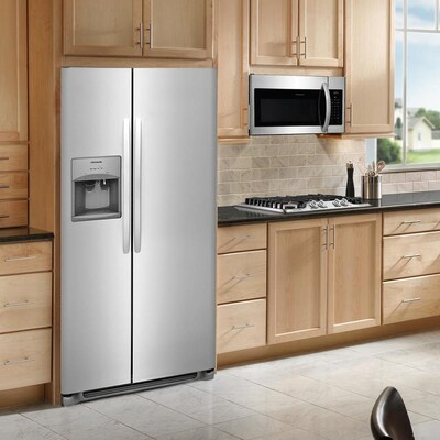 Frigidaire 22 Cu Ft Side By Side Refrigerator With Ice Maker (Stainless Steel) by Lowe's