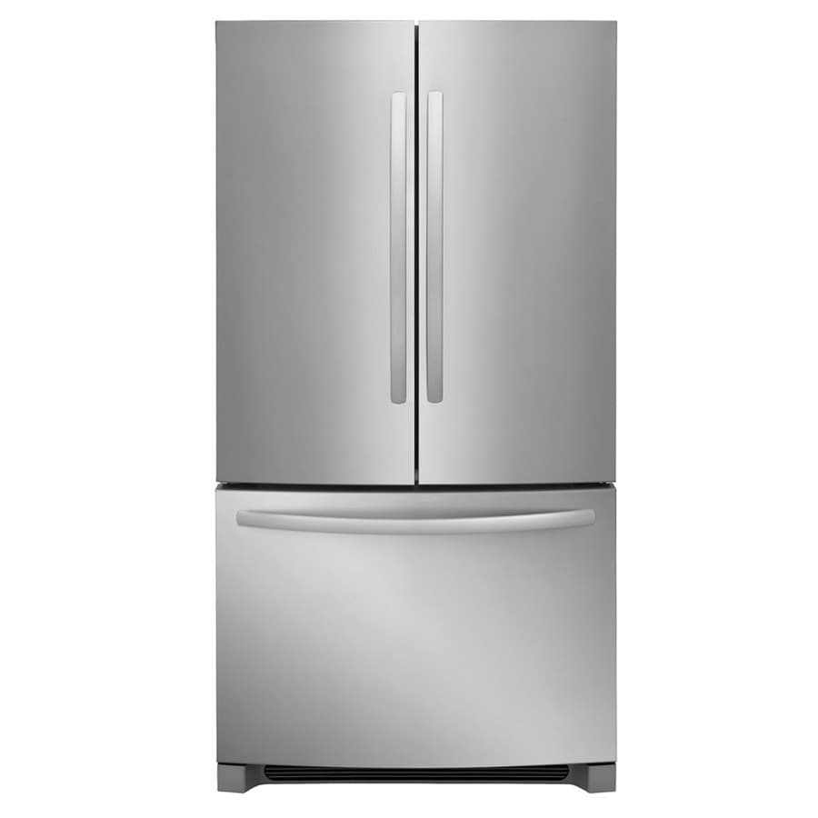 Frigidaire 22.4-cu ft Counter-Depth French Door Refrigerator with Ice Maker (EasyCare Stainless Steel) ENERGY STAR