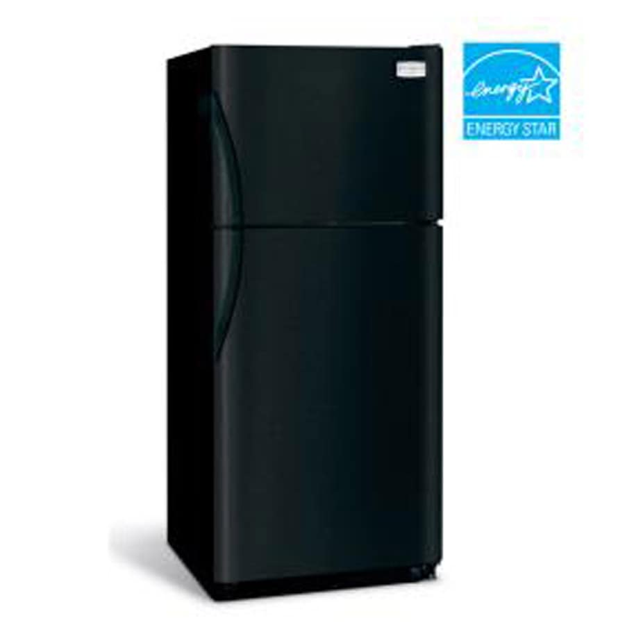 Frigidaire 18.2-cu ft Top-Freezer Refrigerator with Ice Maker (Black)