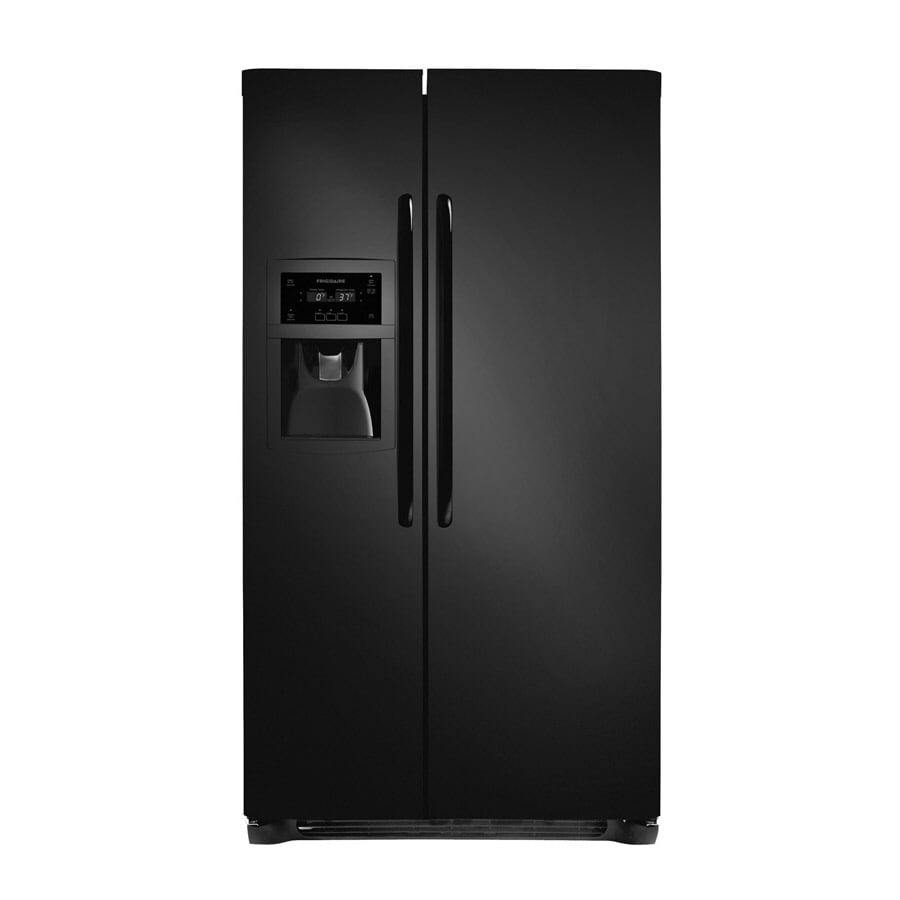 Frigidaire 22.6-cu ft Counter-Depth Side-by-Side Refrigerator with Single Ice Maker (Smooth Black)