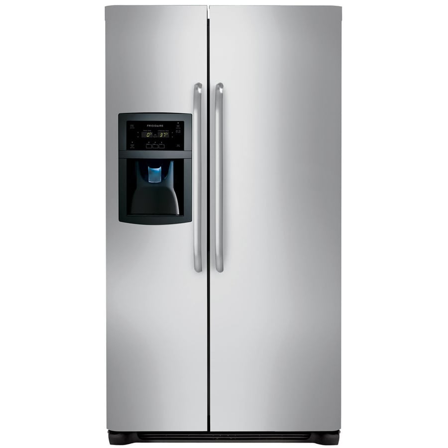 Frigidaire 22.6-cu ft Counter-Depth Side-by-Side Refrigerator with Ice Maker (Stainless Steel)