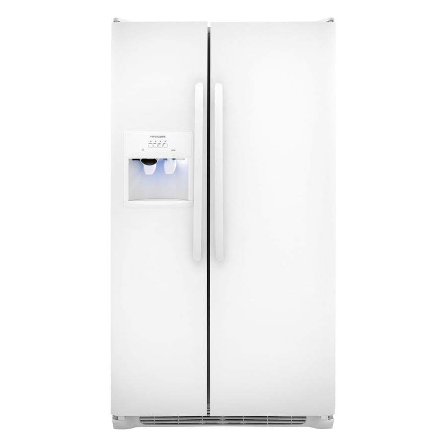 Frigidaire 26-cu ft Side-by-Side Refrigerator with Ice Maker (White)