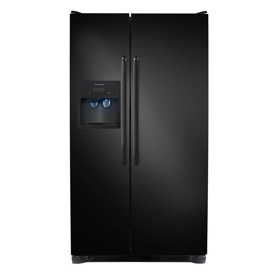 Frigidaire 26-cu ft Side-by-Side Refrigerator with Single Ice Maker (Black)