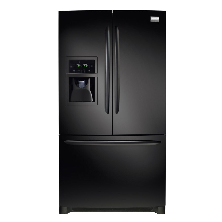 Frigidaire Gallery 26.7-cu ft French Door Refrigerator with Dual Ice Maker (Smooth Black)
