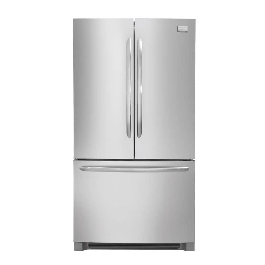 Frigidaire Gallery 27.7-cu ft -Door French Door Refrigerator with Ice Maker (Stainless Steel)