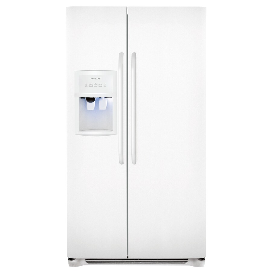 Frigidaire 26-cu ft Side-by-Side Refrigerator with Single Ice Maker (White)