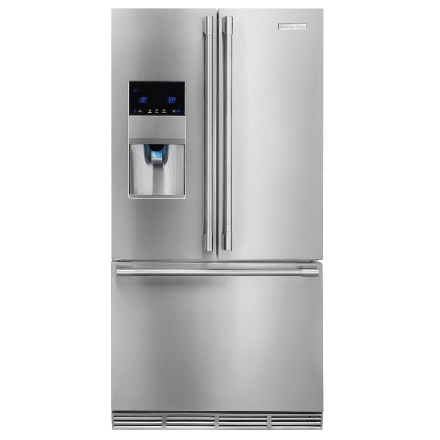 Electrolux Icon 22 5 Cu Ft Counter Depth French Door Refrigerator With Ice Maker