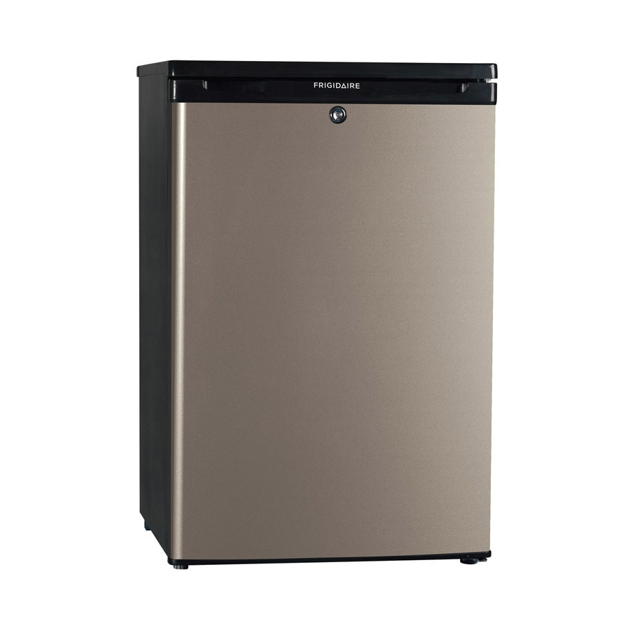 Frigidaire 4.4-cu ft Compact Refrigerator with Freezer Compartment (Silver Mist)