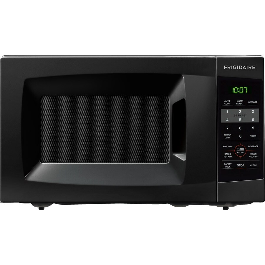 Shop Frigidaire 0.7-cu ft 700-Watt Countertop Microwave (Black) at ...