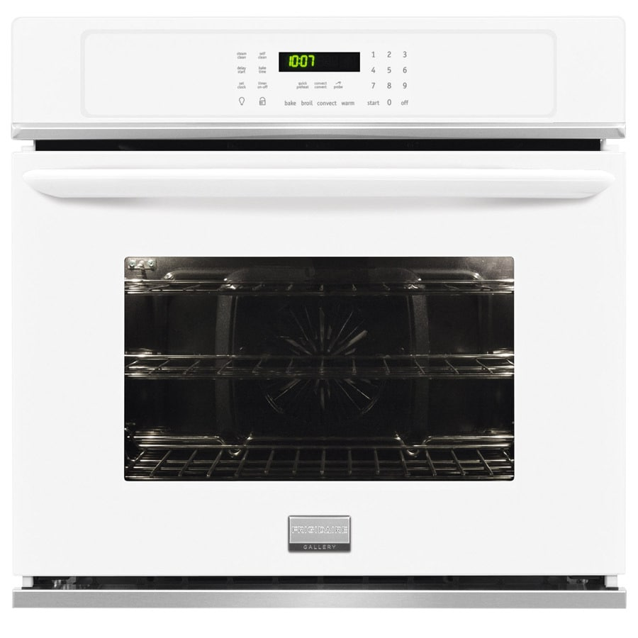 Frigidaire Gallery Convection Self-Cleaning Single Electric Wall Oven (White) (Common: 30-in; Actual 30-in)