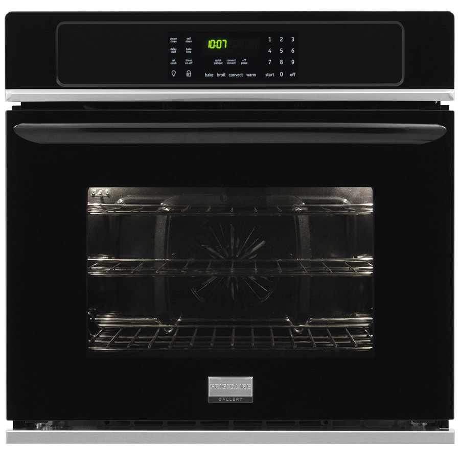 Frigidaire Gallery Self-cleaning True Convection Single Electric Wall Oven (Black) (Common: 30-in; Actual 29.875-in)