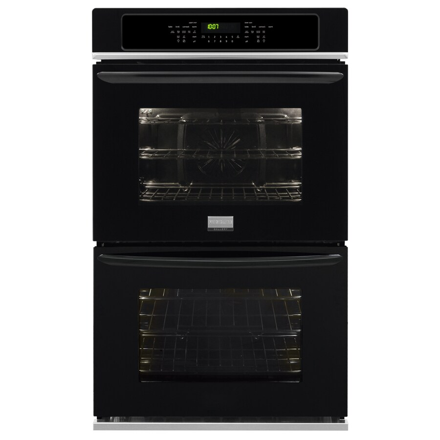 Frigidaire Gallery Self-Cleaning Convection Double Electric Wall Oven (Black) (Common: 30-in; Actual: 30-in)