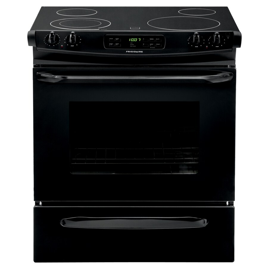 Frigidaire Smooth Surface Self-cleaning Slide-In Electric Range (Black) (Common: 30-in; Actual 30-in)