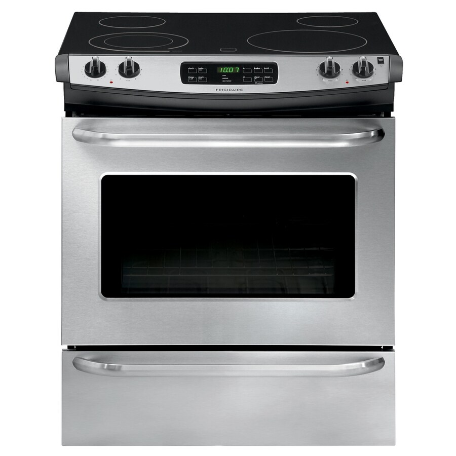 Frigidaire Smooth Surface Self-cleaning Slide-In Electric Range (Stainless steel) (Common: 30-in; Actual 30-in)