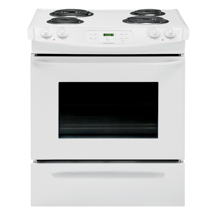 Frigidaire Coil Surface 4-Element Self-cleaning Slide-In Electric Range (White) (Common: 30-in; Actual 30-in)