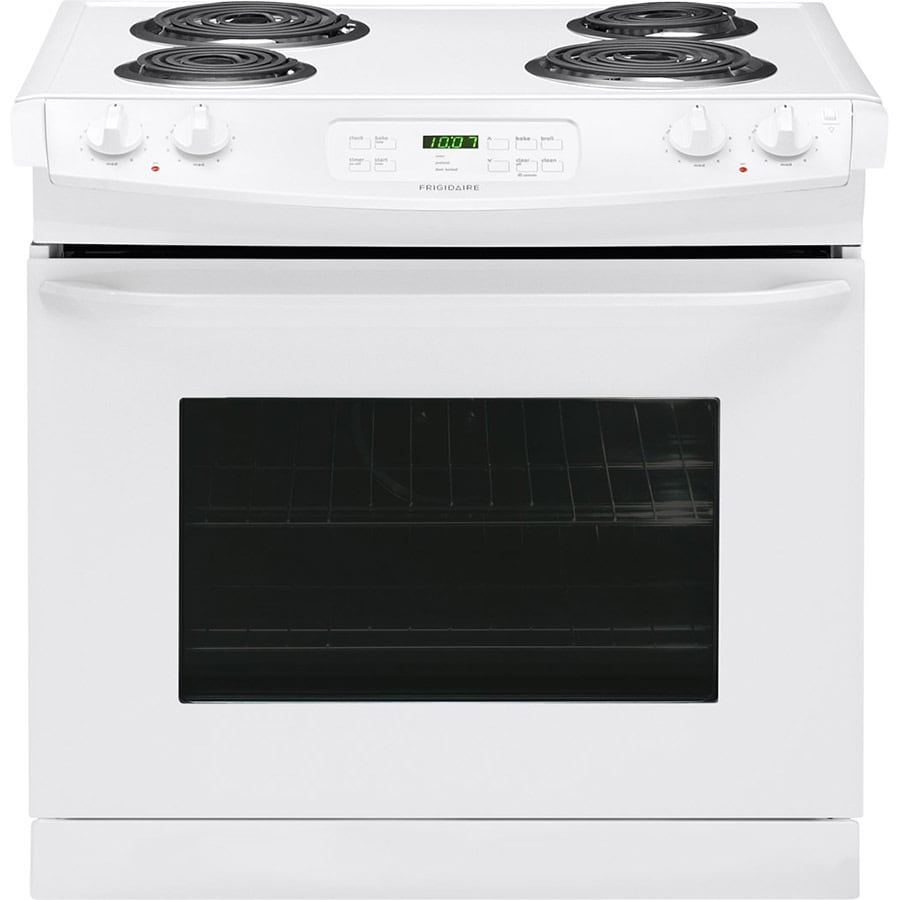 Frigidaire 30-in 4.6-cu ft Self-Cleaning Drop-In Electric Range (White)