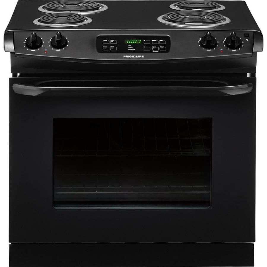 Frigidaire 30-in 4.6-cu ft Self-Cleaning Drop-In Electric Range (Black)