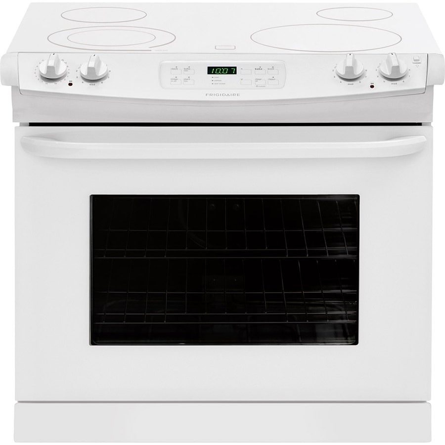 Frigidaire 30-in Smooth Surface 4.6-cu ft Self-Cleaning Drop-In Electric Range (White)