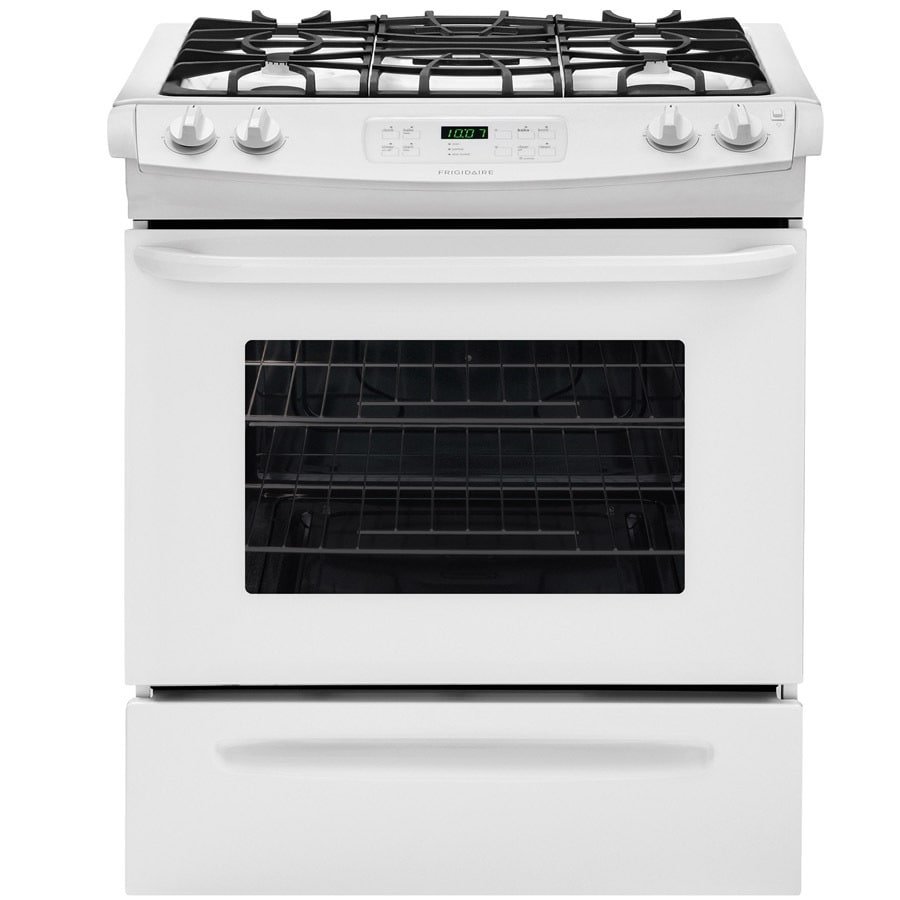 Frigidaire 4-Burner 4.5-cu ft Slide-In Gas Range (White) (Common: 30-in; Actual 30-in)