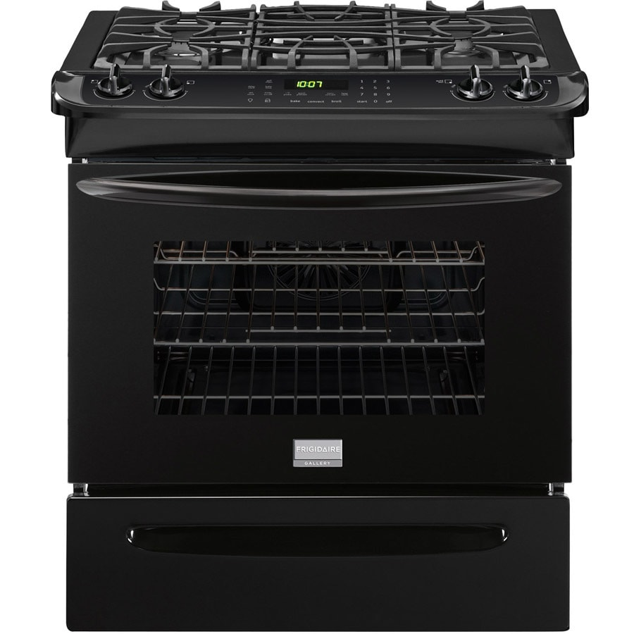 Frigidaire Gallery 4-Burner 4.5-cu ft Slide-In Convection Gas Range (Black) (Common: 30-in; Actual 30-in)