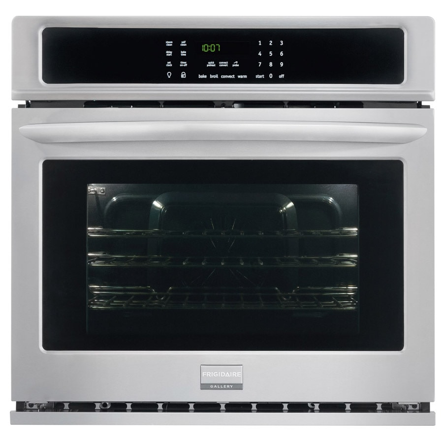 Frigidaire Gallery Self-cleaning Convection Single Electric Wall Oven (Smudge-Proof Stainless Steel) (Common: 27-in; Actual 27-in)