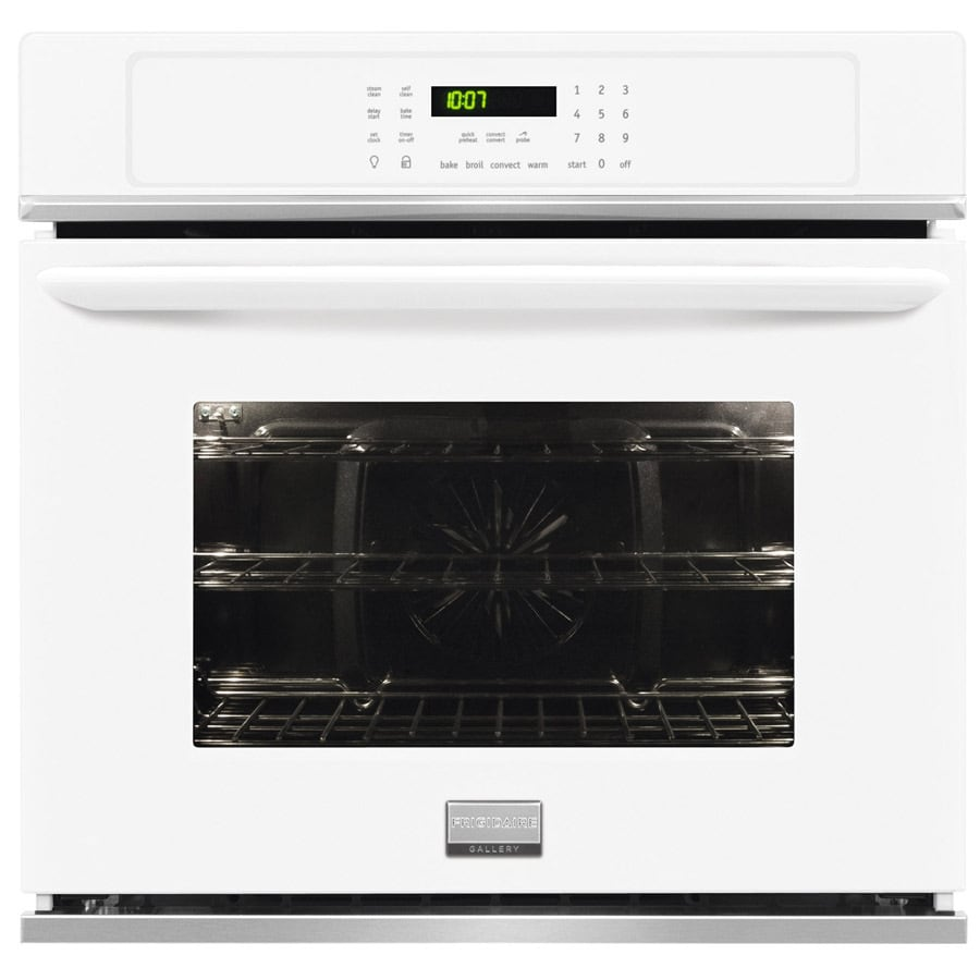 Frigidaire Gallery Self-cleaning Convection Single Electric Wall Oven (White) (Common: 27-in; Actual 27-in)