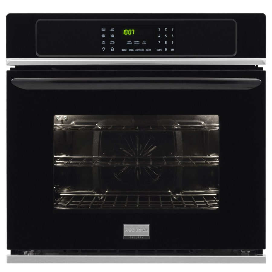 Frigidaire Gallery Convection Self-Cleaning Single Electric Wall Oven (Black) (Common: 27-in; Actual 27-in)