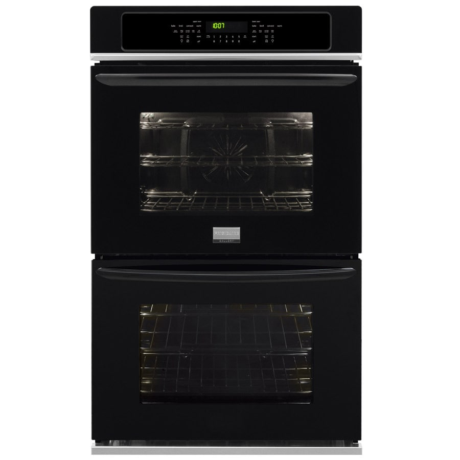 Frigidaire Gallery Self-Cleaning Convection Double Electric Wall Oven (Black) (Common: 27-in; Actual: 27-in)
