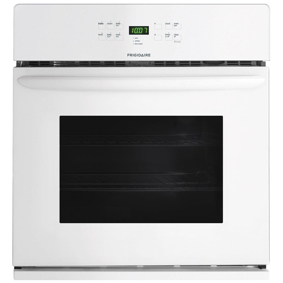 Frigidaire Self-Cleaning Single Electric Wall Oven (White) (Common: 27-in; Actual 27-in)