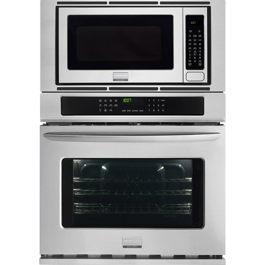 frigidaire gallery self-cleaning with steam true convection microwave wall  oven combo (stainless steel) (common: 30 inch