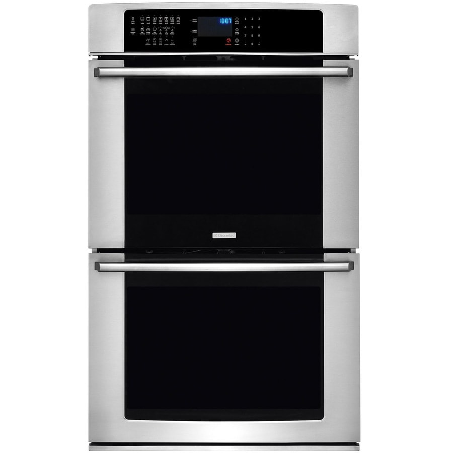 Electrolux Convection Single-Fan European Element Double Electric Wall Oven (Stainless Steel) (Common: 27-in; Actual: 27-in)