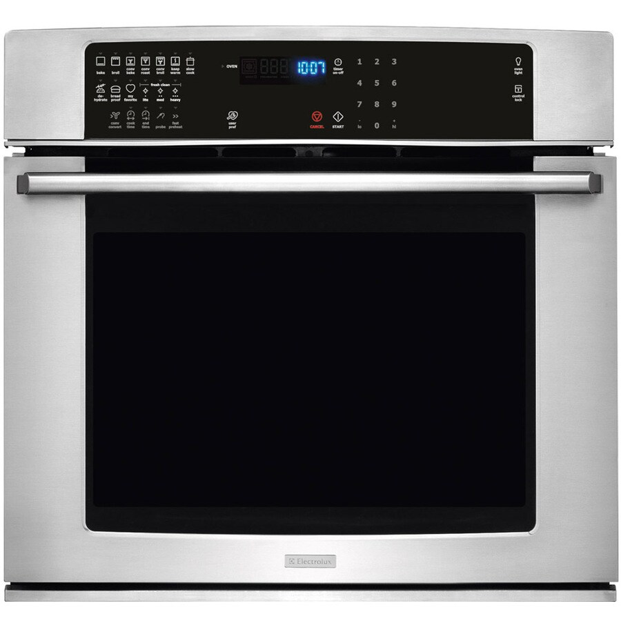 Electrolux Self-Cleaning Convection Single Electric Wall Oven (Stainless Steel) (Common: 27-in; Actual: 27-in)