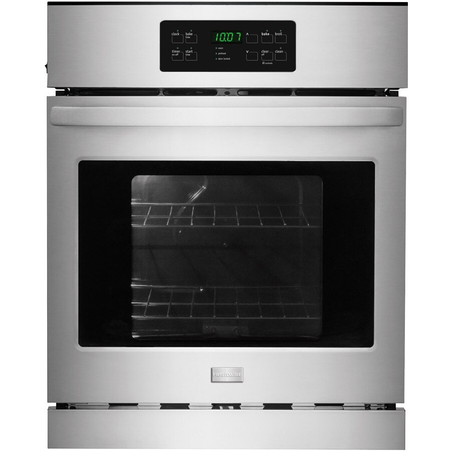 Frigidaire Self-Cleaning Single Electric Wall Oven (Stainless Steel) (Common: 24-in; Actual 23.875-in)
