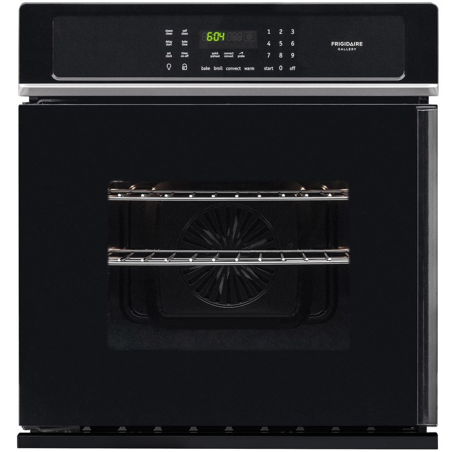 Frigidaire Gallery Self-Cleaning Convection Single Electric Wall Oven (Black) (Common: 27-in; Actual 27-in)