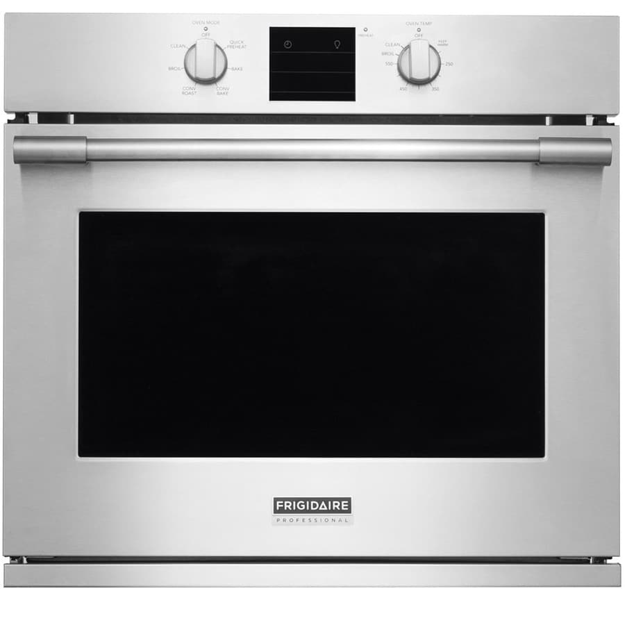 Frigidaire Professional Self-cleaning Convection Single Electric Wall Oven (Stainless Steel) (Common: 30-in; Actual 29.875-in)