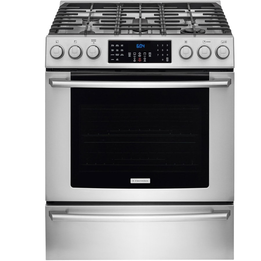 Electrolux 5-Burner Freestanding 4.6-cu ft Self-cleaning Convection Gas Range (Stainless Steel) (Common: 30-in; Actual: 29.88-in)