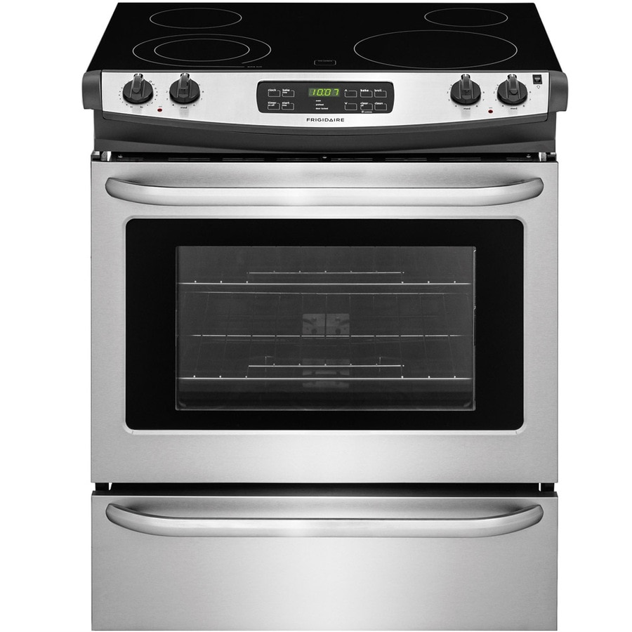 Frigidaire Smooth Surface 4-Element Self-Cleaning Slide-in Electric Range (Easycare Stainless Steel) (Common: 30-in; Actual 30-in)