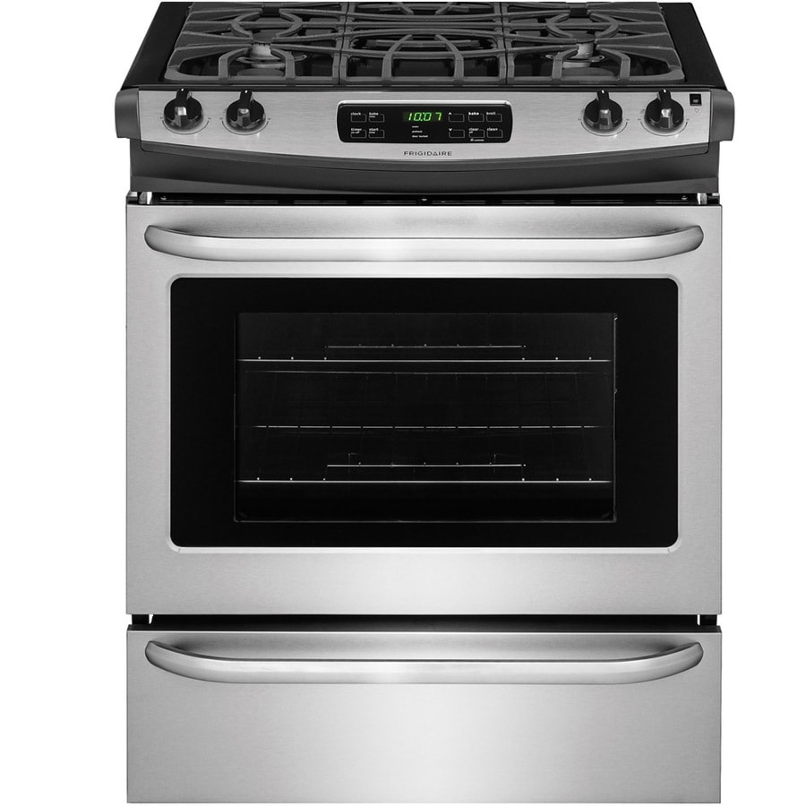 Frigidaire 4.5-cu ft Self-cleaning Slide-In Gas Range (EasyCare Stainless Steel) (Common: 30-in; Actual 30-in)
