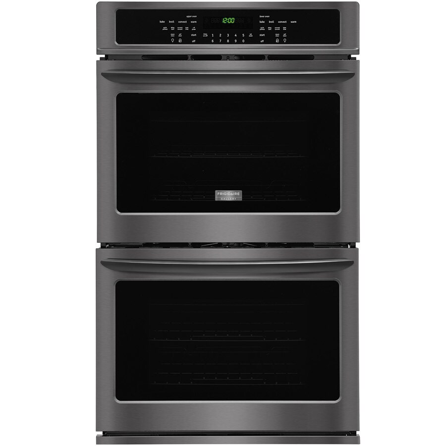 Frigidaire Gallery Self-Cleaning Convection Double Electric Wall Oven (Black Stainless Steel) (Common: 30-in; Actual: 30-in)